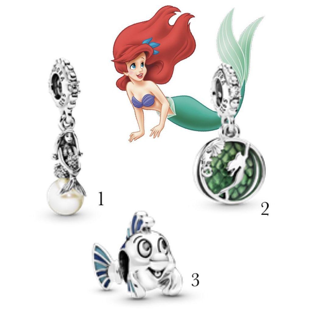 Charms Disney Pequena Sereia Prata925