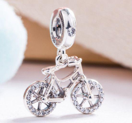 Pendente Bicicleta Brilhante Prata925