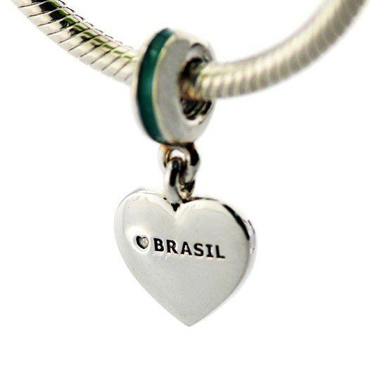Pendente Brasil Eu Te Amo Prata925