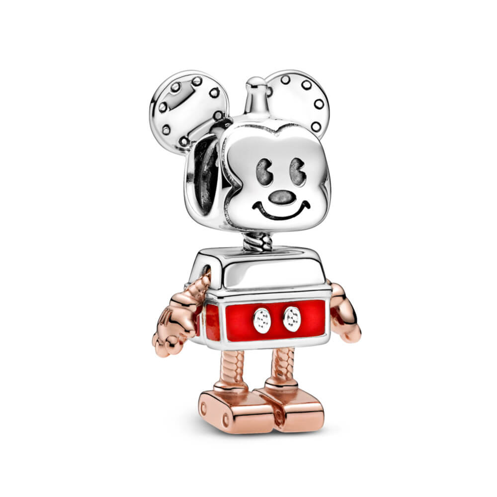 Pendente Mickey Mouse Robô Disney Prata925 e Rose