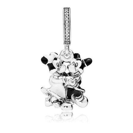 Pendnete Mickey E Minnie Dançante Prata925