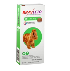Antipulgas Bravecto Oral 500 mg para Cães 10 a 20kg