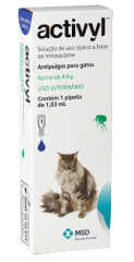 Antipulgas MSD Activyl 1,03 mL para Gatos acima de 4 Kg