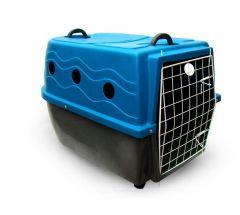 Caixa de Transporte Azul Dog