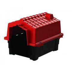 Casa Pet Injet Prime Colors Dog House Evolution Vermelho Escuro - Vermelho - 2
