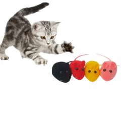 Ratinho Real Brinquedo Para Gatos Kit 4 Unidades Coloridas