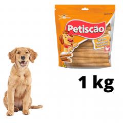 Snack Petisquinho Para Cães Palito Fino Sabor Frango 1kg