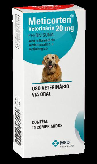 Anti-Inflamatório MSD Meticorten Vet 10 Comprimidos Cães