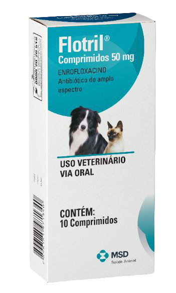 Antimicrobiano MSD Flotril 50 mg - 10 comprimidos