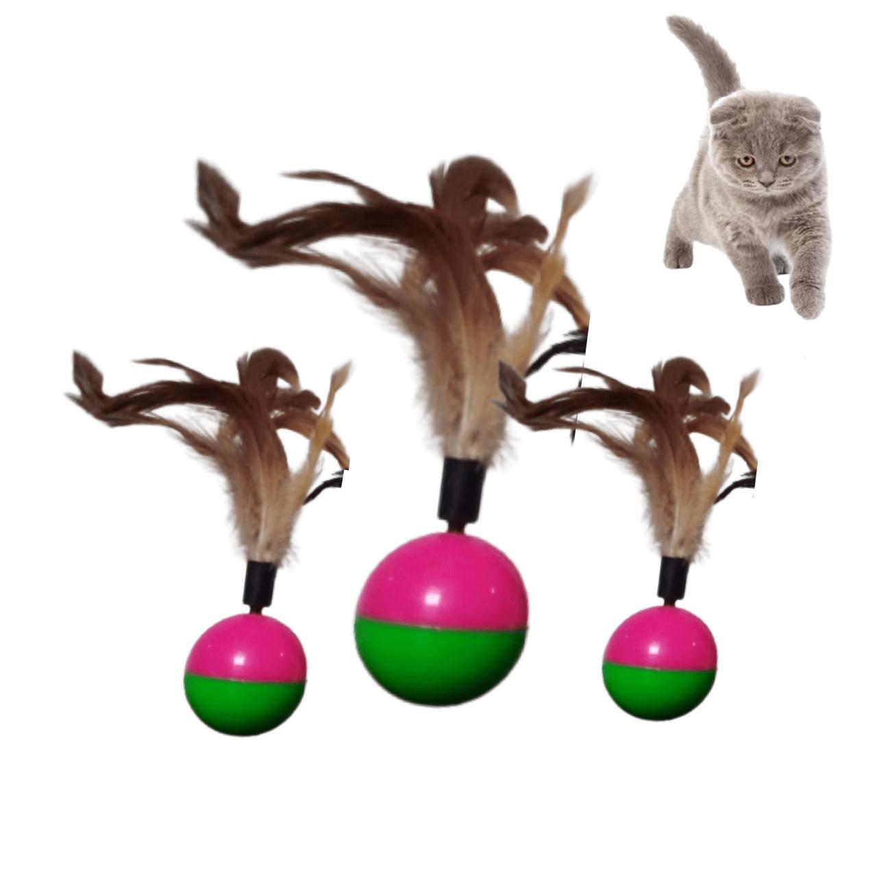 Bola com Pena João Bobo para Gatos
