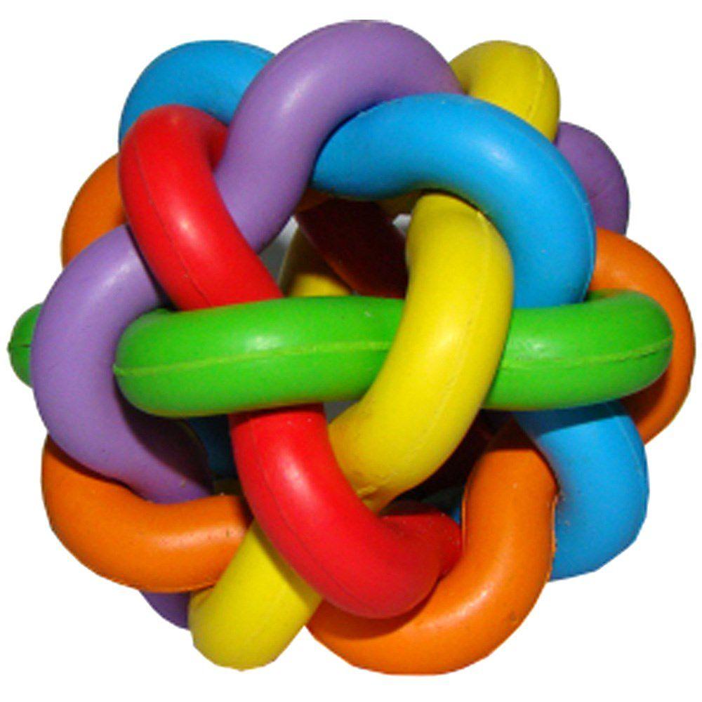 Brinquedo Chalesco Para Cães Bola Multicor - 5 unid