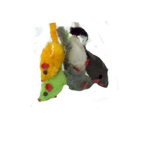 Brinquedo Chalesco Pelúcia Ratinhos - 5 unidades