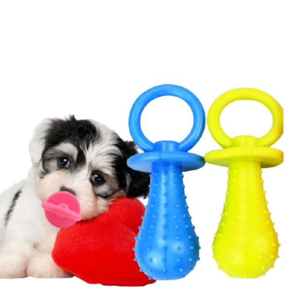 Brinquedo de Borracha Chupeta para Cachorros e Gatos Espaço para Petisco