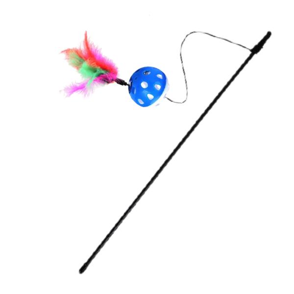 Brinquedo Varinha Bola Guizo com Pena