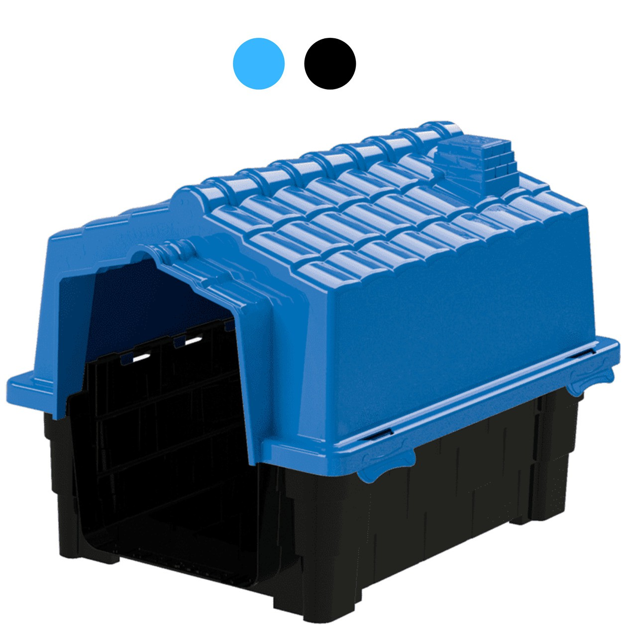 Casa Pet Injet Prime Colors Dog House Evolution Azul ou Preta