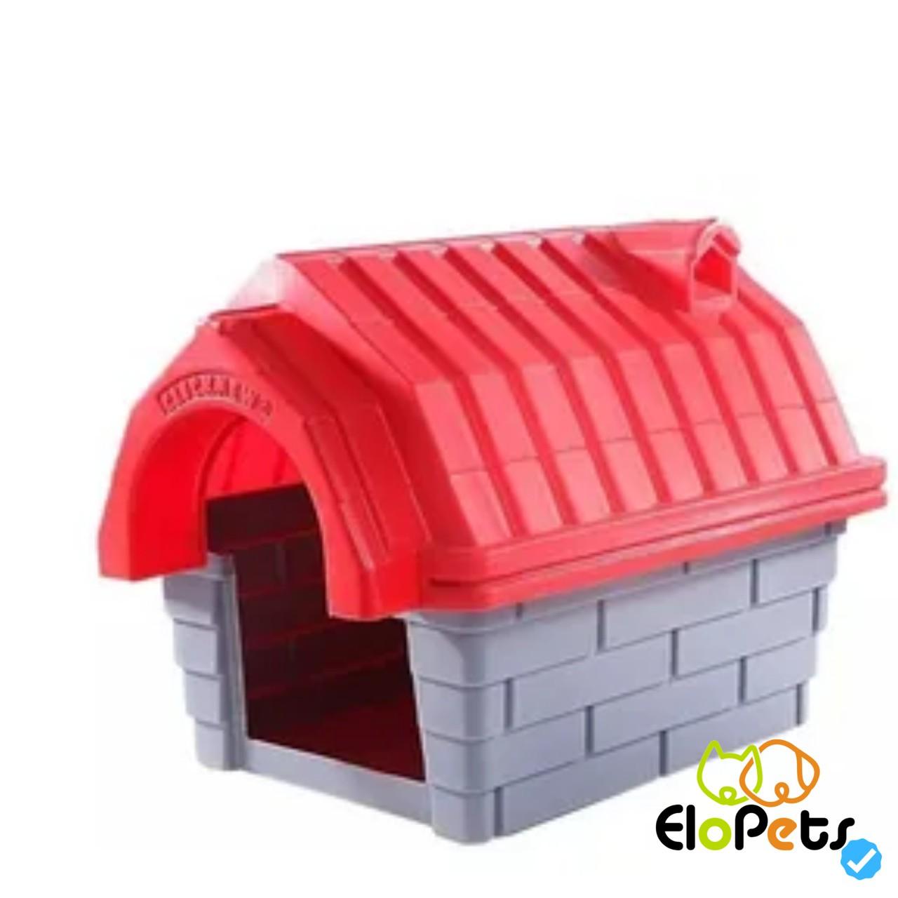 Casa Plastica Clicknew Chamine vermelha