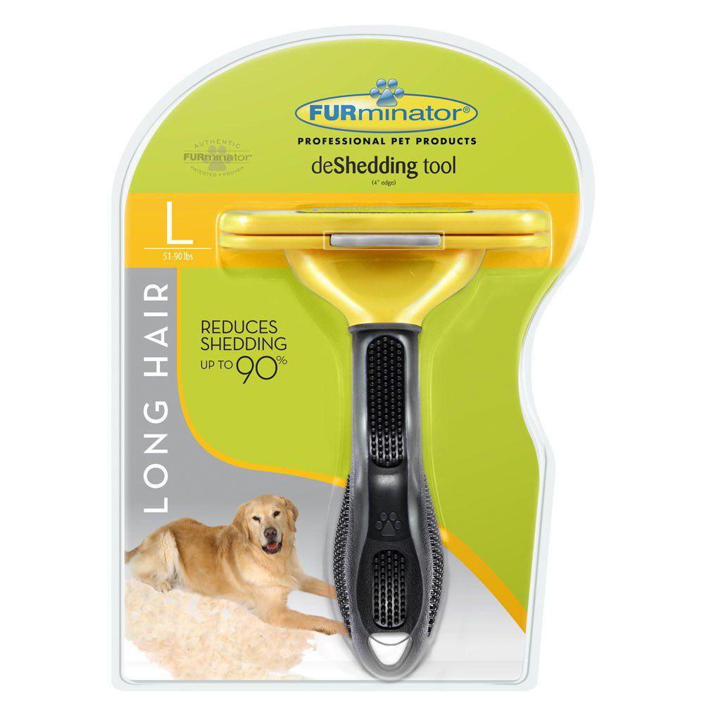 Escova Tira Pelo Furminator para Cães com Pelo Longo - Grande