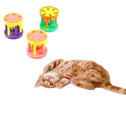 Kit 4 Brinquedo de Carrossel para Gatos com Guizo