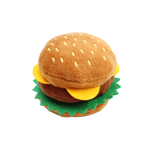 Mordedor de pelúcia Hambúrguer