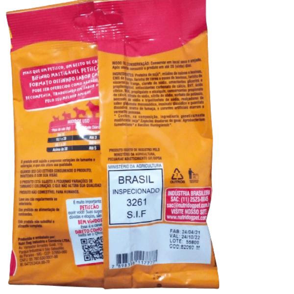 Petisco de Carne Bifinho Mastigável Mais Suculento
