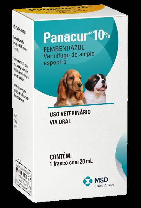 Vermífugo MSD Panacur 10% Suspensão Oral 20 ml para Cães