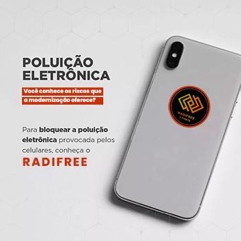 Dispositivo Adesivo Anti-Radiação Celular Eletrônicos Radifree
