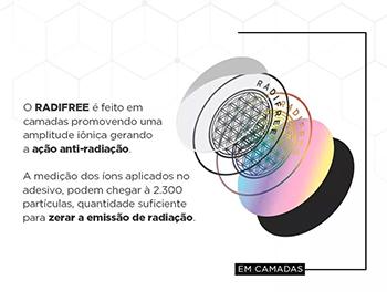 Kit 3 Adesivos Anti Radiação Para Celular Radifree Therapy