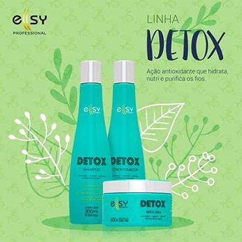 Kit Detox Restauração Vitamina Hidratação Desintoxicação Nutrição 3 Itens Ellsy Cosmetic