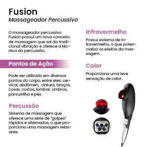 Massageador Elétrico Corporal Calor Frio Infravermelho Fusion