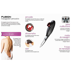 Massageador Fusion Infravermelho e Calor + Pomada e Pulseira