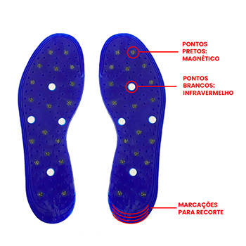 Palmilha Magnético Infravermelho Up Fit Silicone Sebo Carneiro