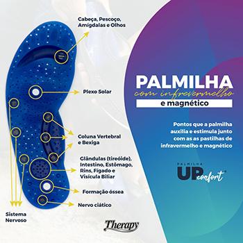 Palmilha Ortopédica Magnética Silicone Infravermelho + Sebo Carneiro