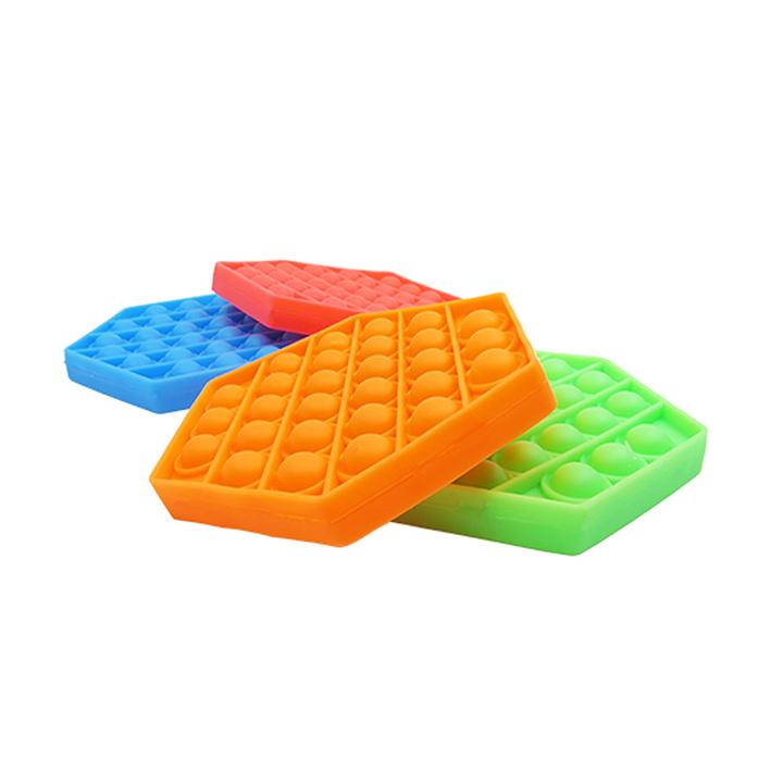 Pop It Sextavado Anti Stress Brinquedo Coordenação Motora