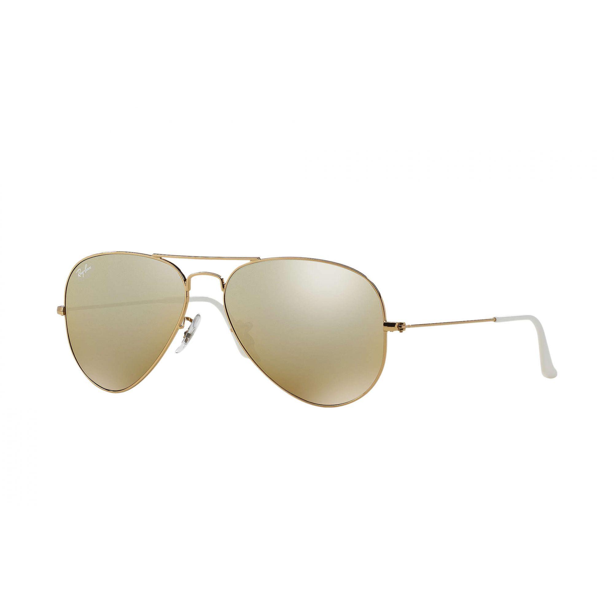 ce535050b9220 Ray Ban Aviador RB 3025L 001 3k - Dourado Marrom Degrade Espelhado - Ótica