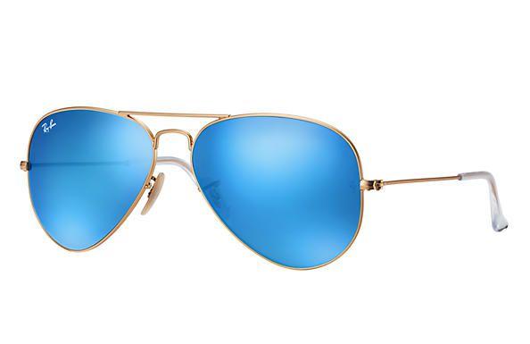 Ray Ban Aviador RB 3025L 112 17 - Dourado Azul Espelhado - Ótica Peixinho 537d8efeb6