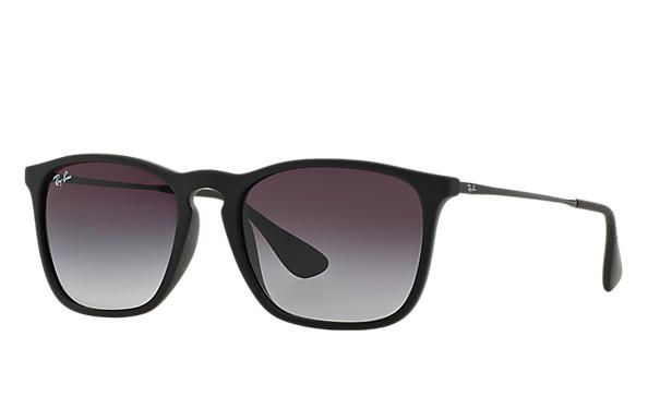 Ray Ban Chris RB 4187L 622 8G - Preto Cinza Degrade - Ótica Peixinho 7be9f7ca93