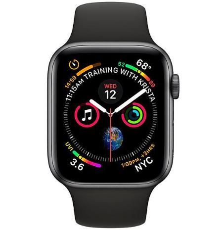 Apple Watch Series 4 44 mm GPS/LTE - Space Gray/Black