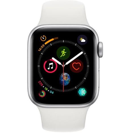 Apple Watch Series 4 44 mm Silver/White