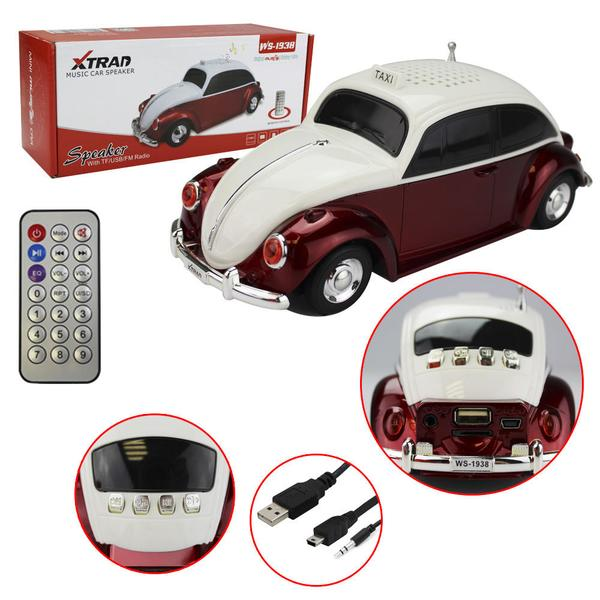 Caixa de som portátil Fusca Taxi
