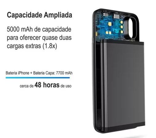 Capa + Carregador Portátil Magnético Sem Fio Iphone X Baseus