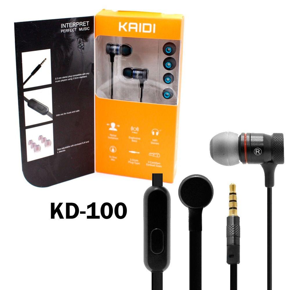 Fone de ouvido Kaidi Com Microfone KD100