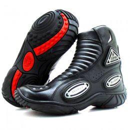 Bota motociclista de couro legítimo unissex para slider esportivo 298 - OUTLET