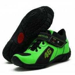 Bota motociclista personalizada Valentino Rossi em couro legítimo bovino na cor verde 401