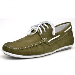 Mocassim dockside masculino Atron Shoes oliva 572