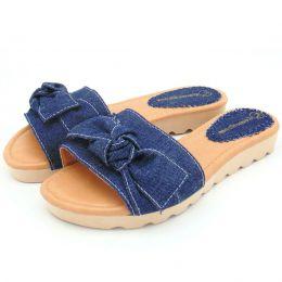 Sandália rasteirinha feminina jeans