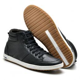 Sapatênis de couro atron shoes preto 782