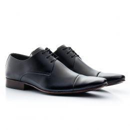 Sapato social masculino preto italiano com cadarço 307