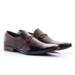 Sapato de couro café social de calçar 353