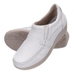 Sapato feminino de couro legítimo na cor branca 8005