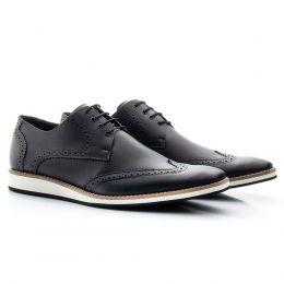 Sapato social estonado preto de c